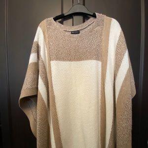 Club Monaco Imani Wool Poncho - creme - Brand New